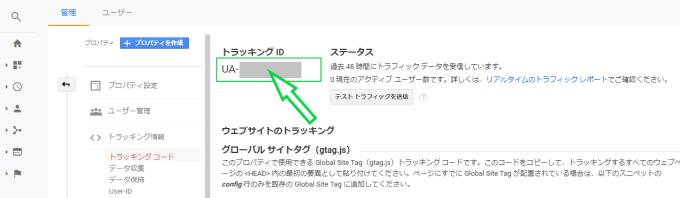 Googleアナリティクス管理画面の画像