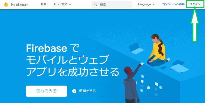 Firebase公式ホームページの画像