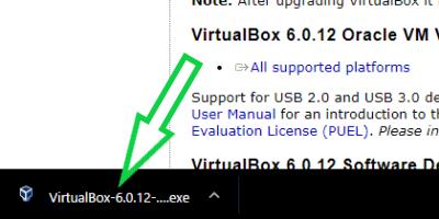 VirtualBoxインストーラーの画像