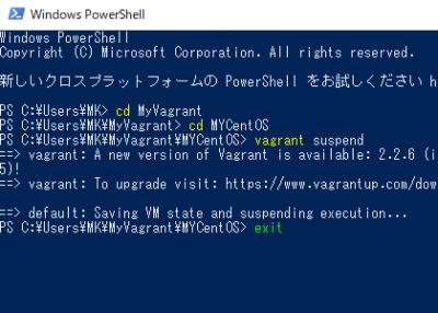 PowerShell画面の画像
