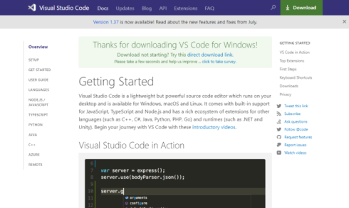 visual studio codeの画像